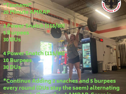 WOD for May 25, 2018