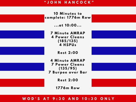 WOD for July 4, 2016