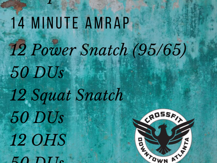 WOD for July 10, 2018