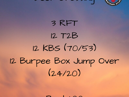 WOD for July 14, 2018