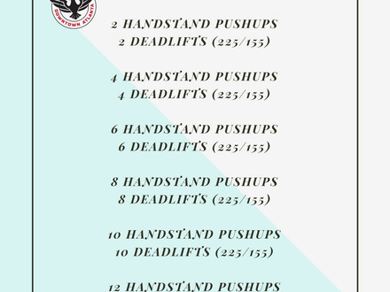 WOD for August 4, 2016
