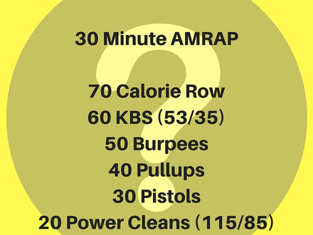 WOD for July 19, 2016