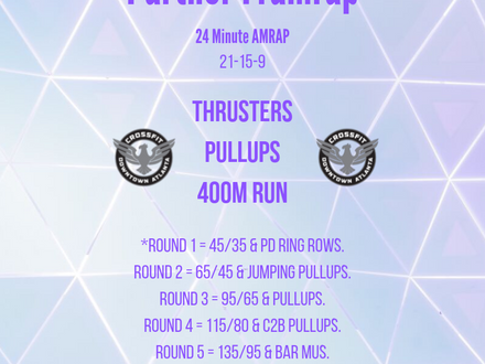 WOD for July 13, 2018