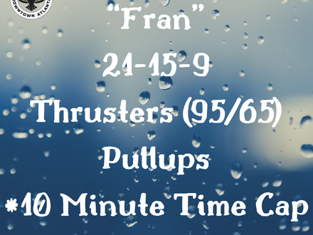 WOD for June 6, 2018