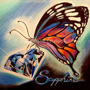 Sapphire and Butterfly