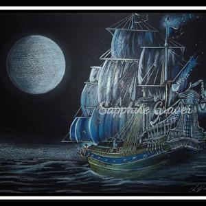 Sailing Ship at Night
