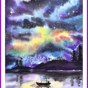 Nebula Over Water