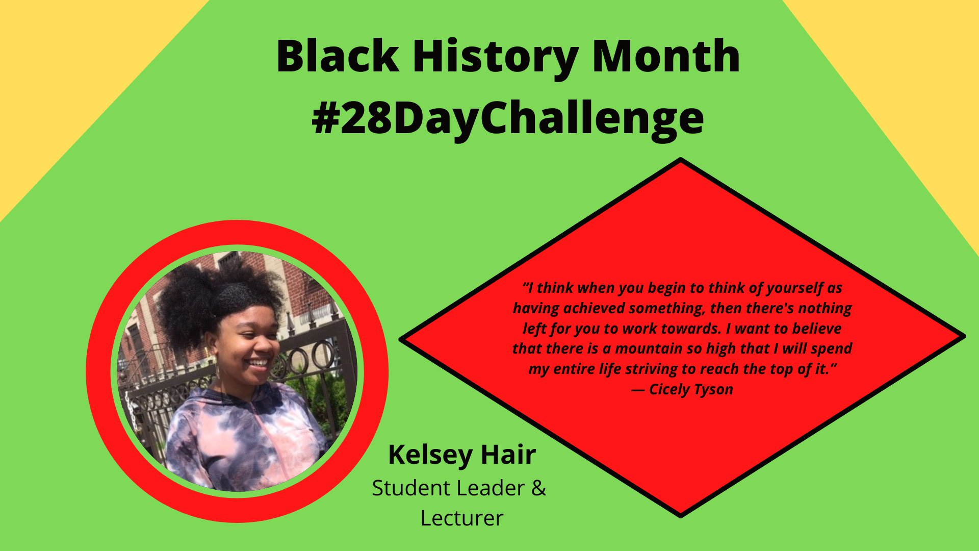 Kelsey L. Hair Black History Month