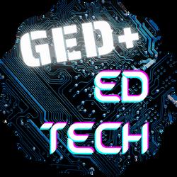 Transparent Background GED+ Ed Tech Logo