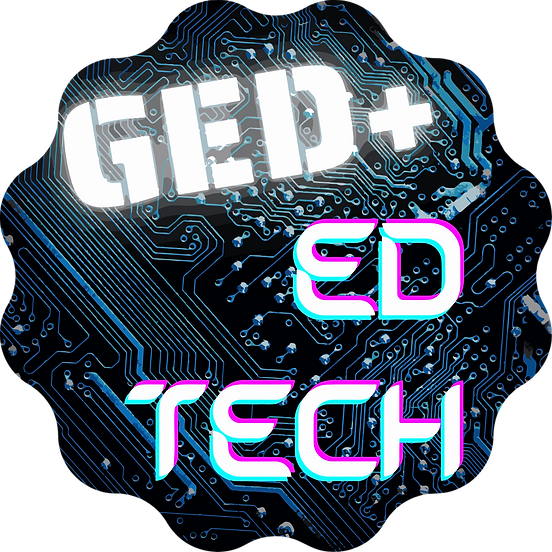 Transparent Background GED+ Ed Tech Logo