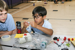 Nord Anglia student building an Airboat!