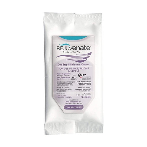 Rejuvenate Disinfectant Soft Pack Wipes, 10 Count