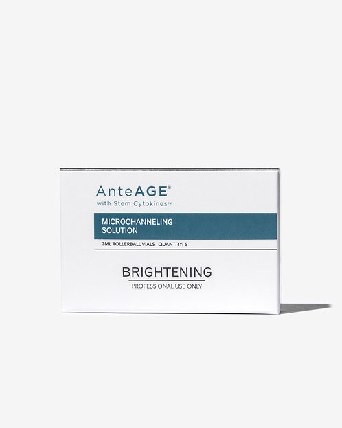AnteAGE Microchanneling: Brightening Solution