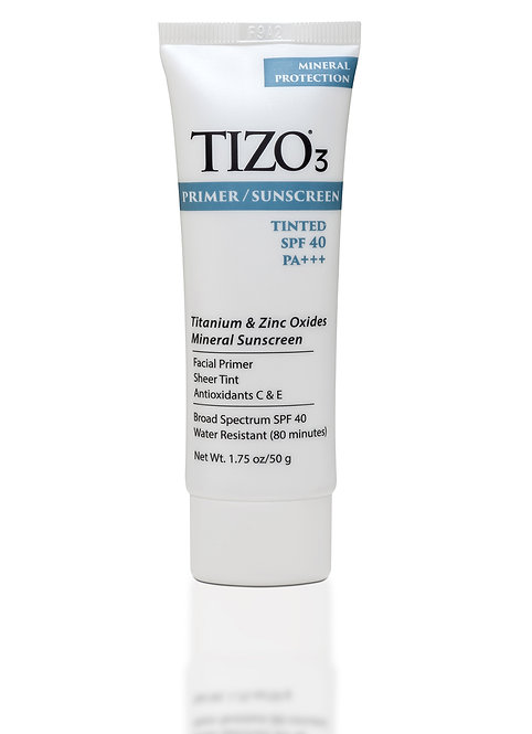 TIZO®3 Facial Primer/Sunscreen tinted matte finish SPF 40 - 3 oz