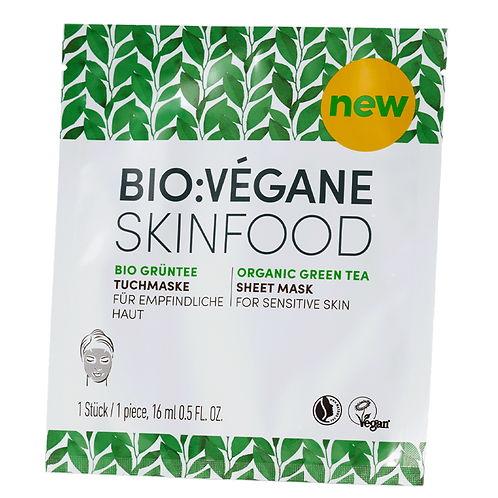 BIO:VÉGANE Organic Green Tea Sheet Mask