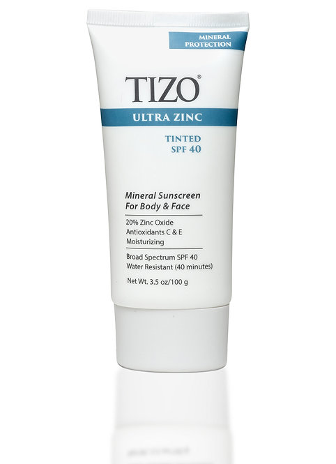 TIZO® Ultra Zinc Body & Face Sunscreen Tinted dewy finish SPF 40