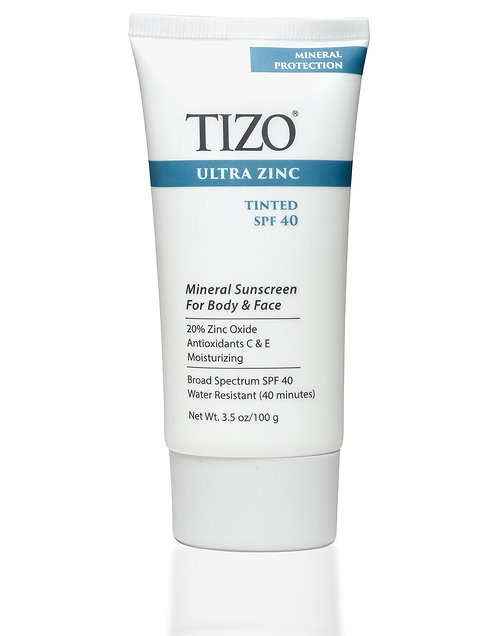 TIZO® Ultra Zinc Body & Face Sunscreen Tinted dewy finish SPF 40