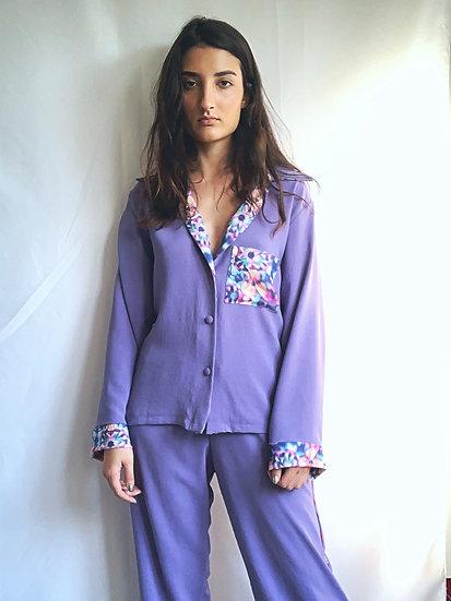 Camisa de pijama lilás