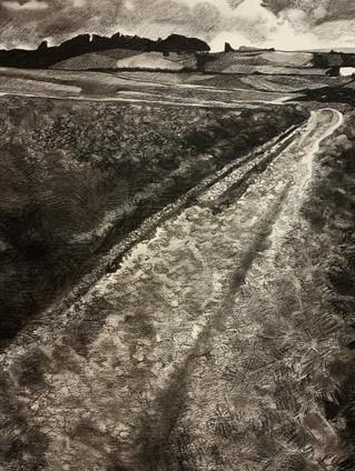 The road towards the barrow
