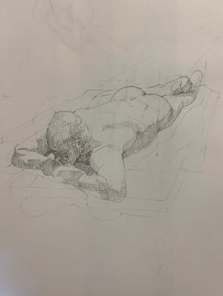 Nude laying