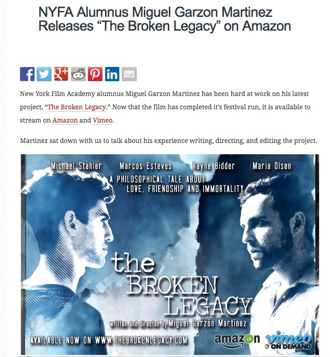 """The Broken Legacy"" is available on demand!"