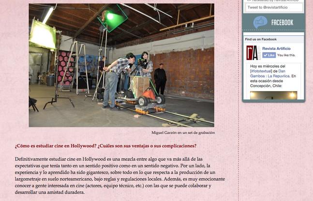 Interview with Artificio Magazine (in Spanish)