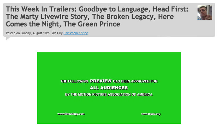 """The trailer for """"The Broken Legacy"""" is featured at SlashFilm.com"""