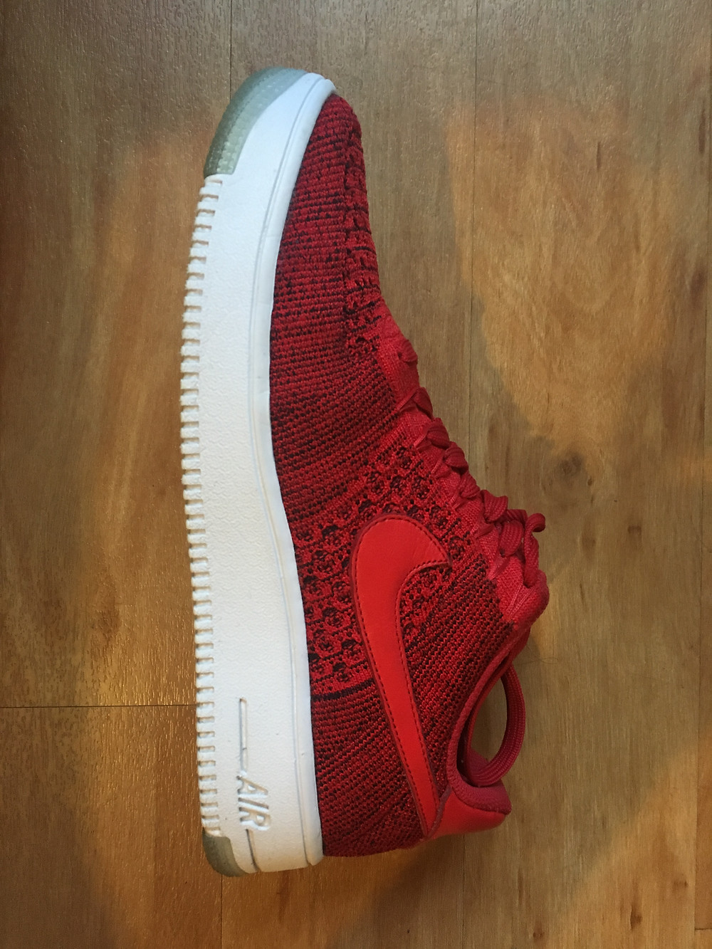 Red nike trainer