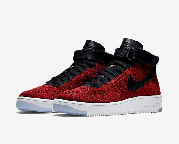 red nike air force one