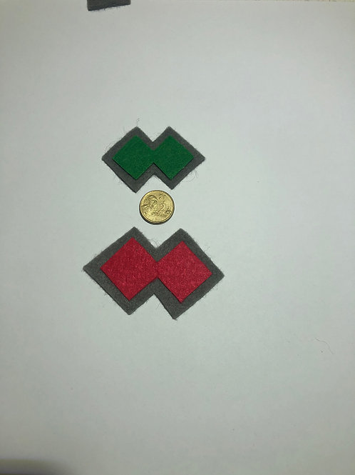 Patch Colour felt - Double Diamond