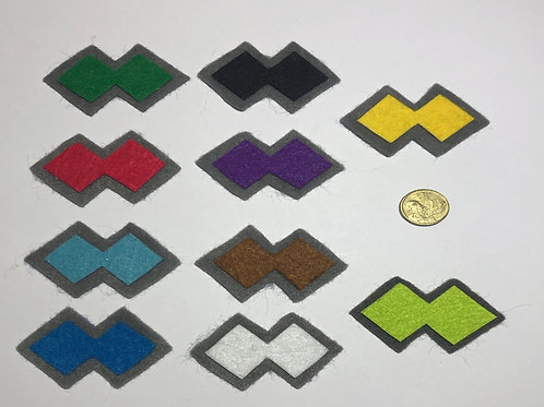 Full Set Patch Colour felt - Double Diamond