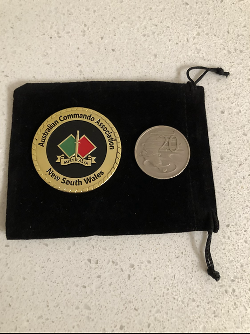 Challenge Coin - Double Dagger Ride and Rock NSW 2020