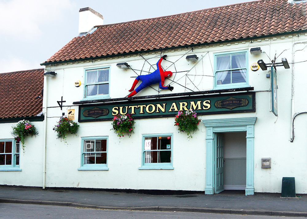 Spiderman at the Sutton Arms