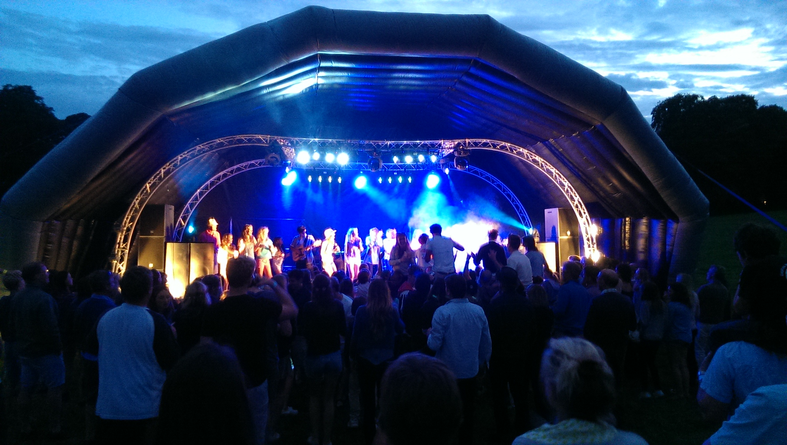 Inflatable stage dome at Meon 2