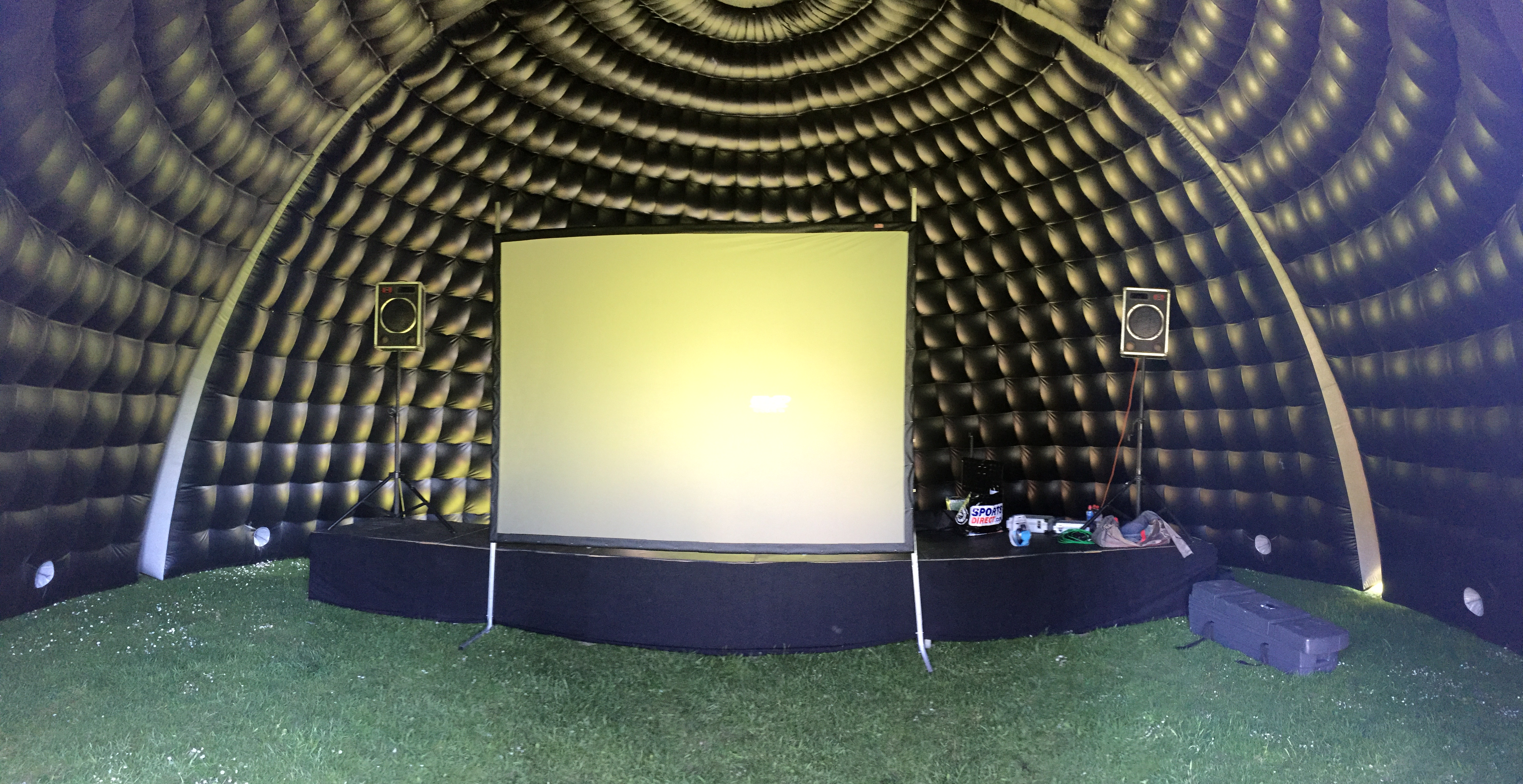 10m dome used as cinema