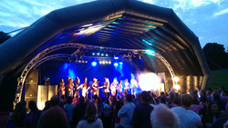 Inflatable Stage dome at Meon