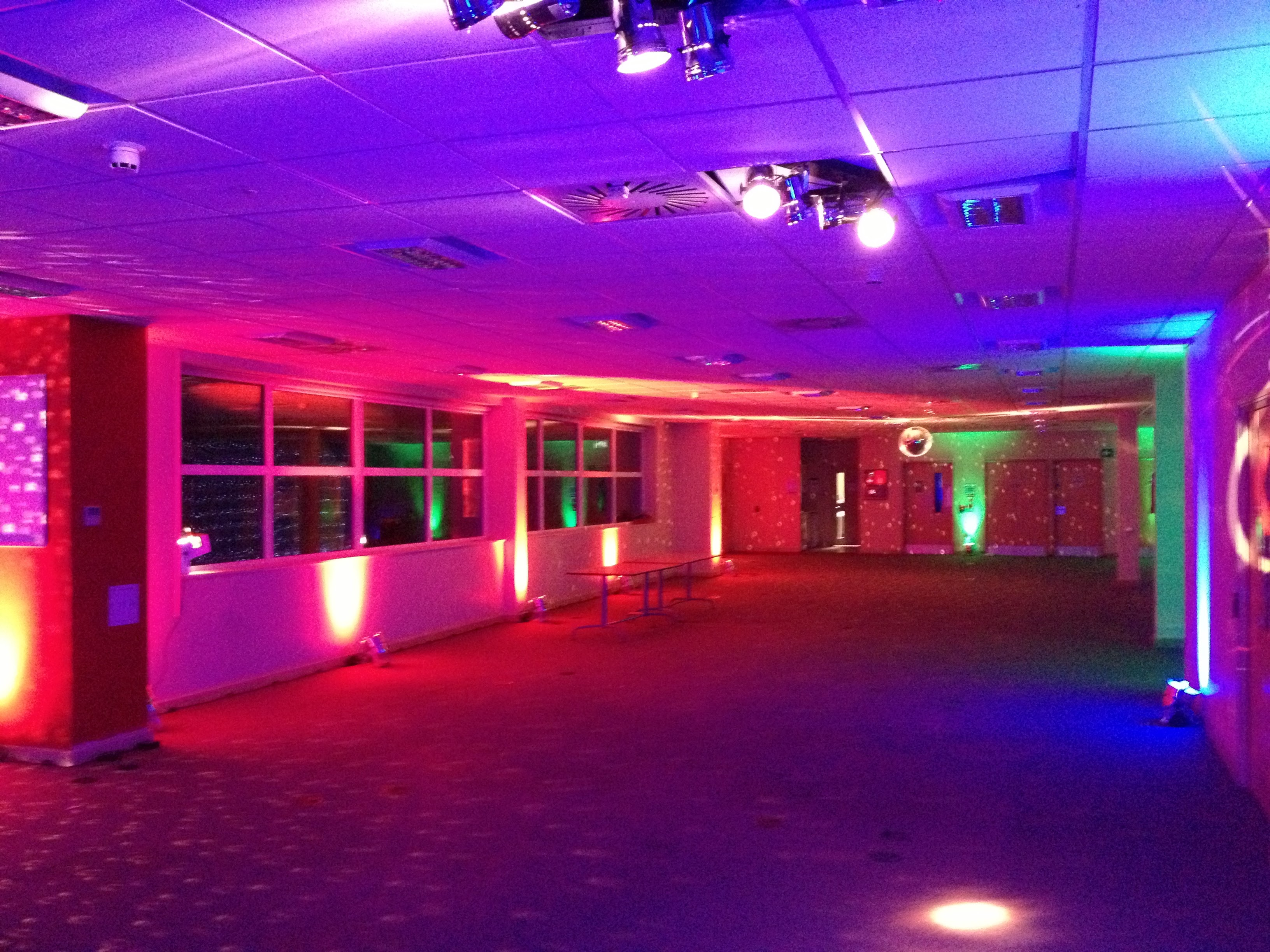 Office Party Uplighting