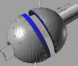 10m dome in two section plan
