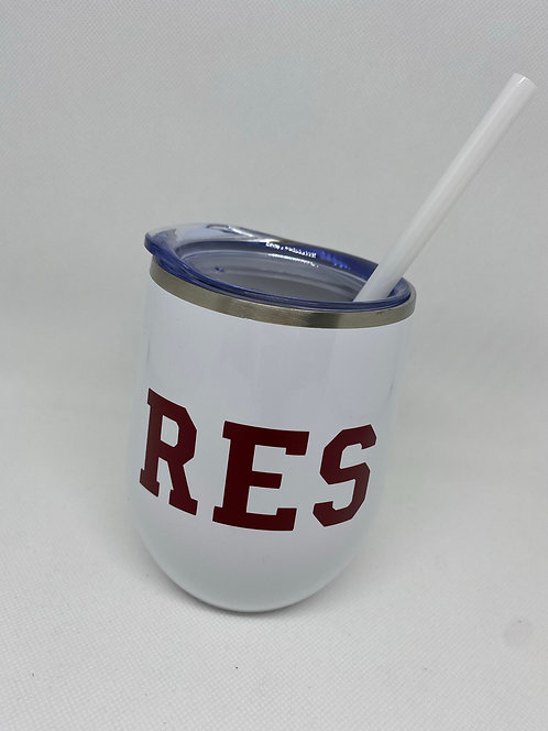 Wine Tumbler with sip lid/straw RES Fundraiser