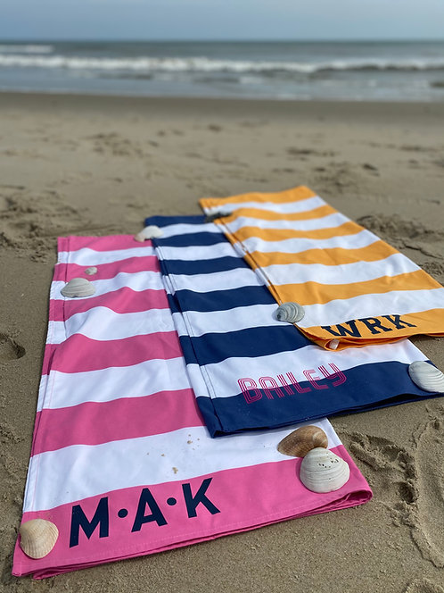 Personalized Dock and Bay Towel