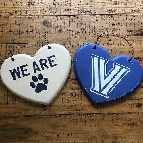 Custom weathered wood heart sign
