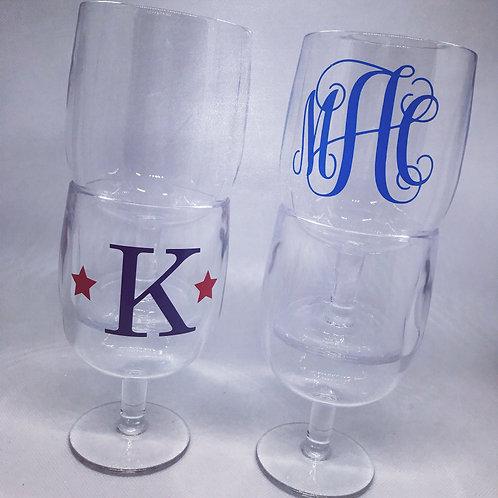 Set/4 Acrylic stackable wine glass 8oz.