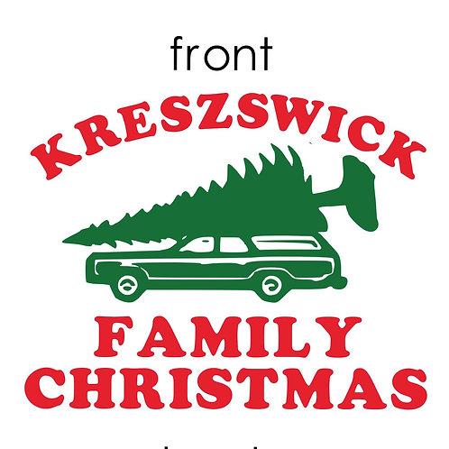 Family Christmas shirt/PJ Adult