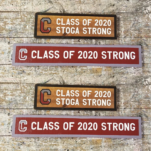 Conestoga Class of 2020 weathered wood sign