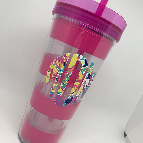 Striped Acrylic Double Wall Tumbler