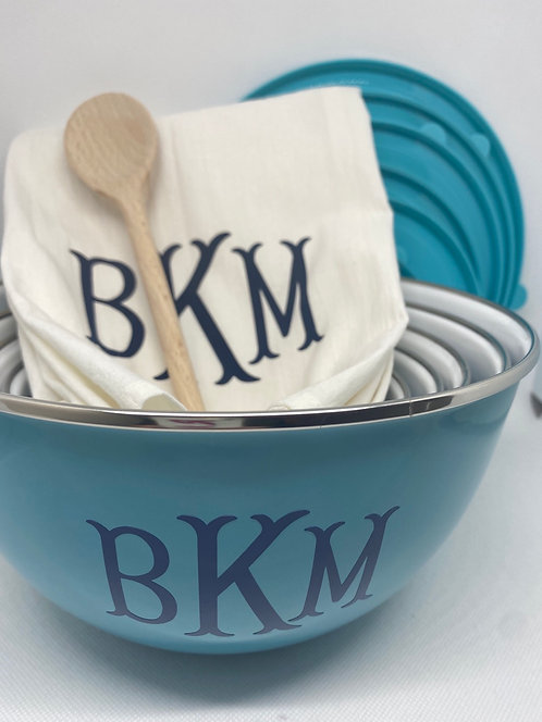 Personalized Mixing Bowl Set/Gift Set Options