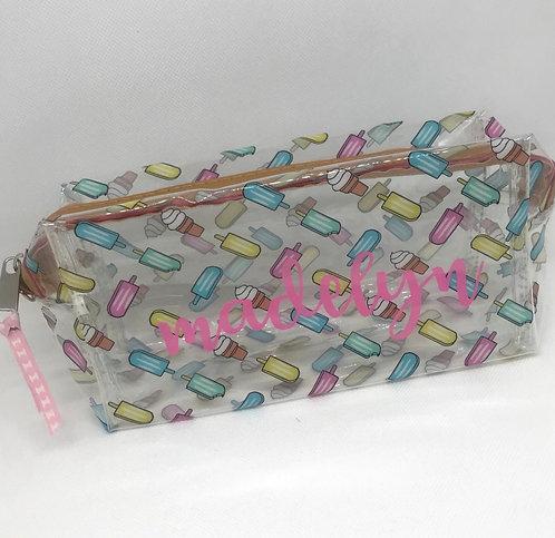 Ice cream zip pouch