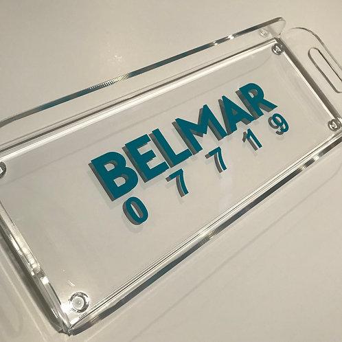 Small rectangular acrylic tray