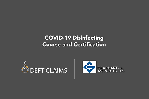 Online COVID-19 Disinfecting Course & Certification