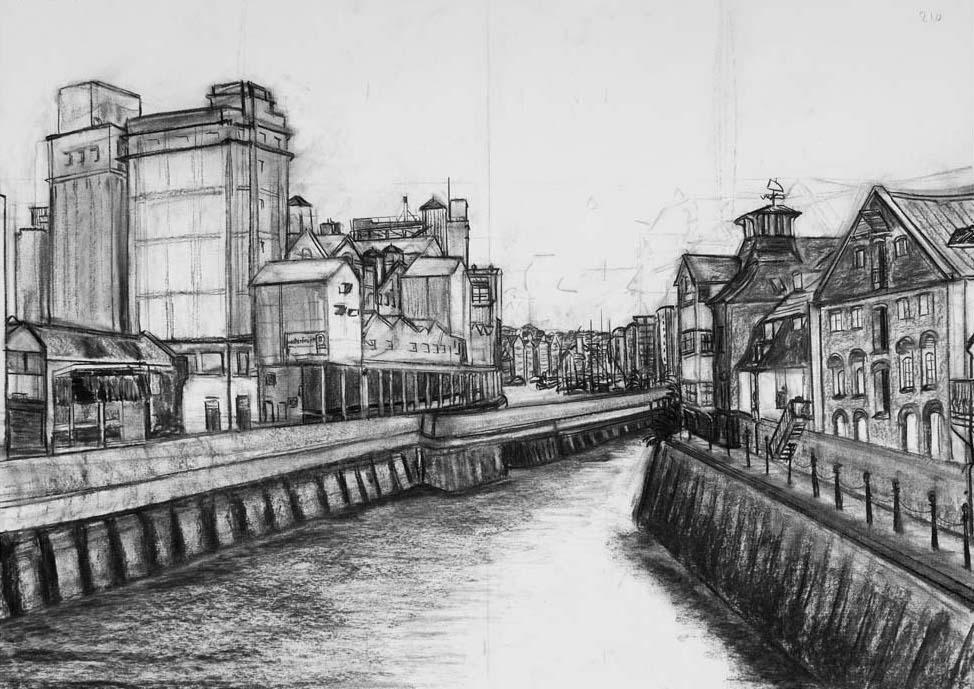 Ipswich Docks from Stoke Bridge